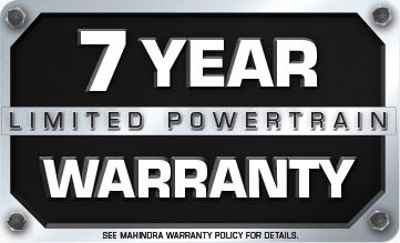 7 Year Limited Powertrain Warranty